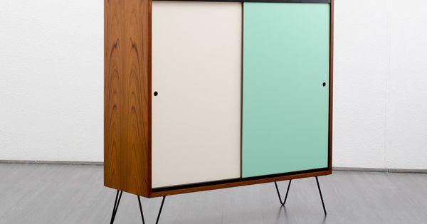 60er kommode vintage 50er sideboard teak and woods. Black Bedroom Furniture Sets. Home Design Ideas