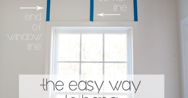 Use Painters Tape To Help Hang Curtain Rods Level In A Few