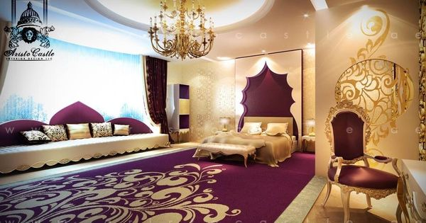 Suburbs Mama Nursery In Master Bedroom: Luxurious Dream Home Master Bedroom Purple Suite Seating