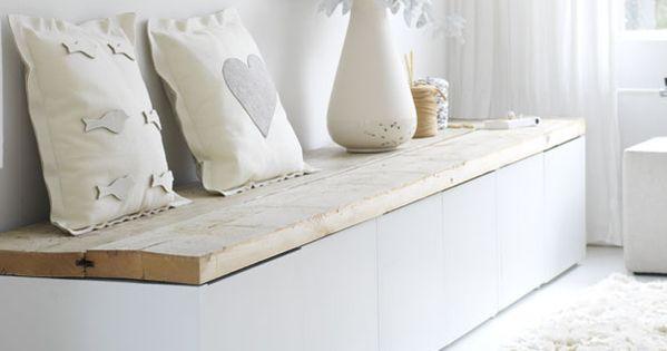 Bankjes, Planken and Ikea on Pinterest
