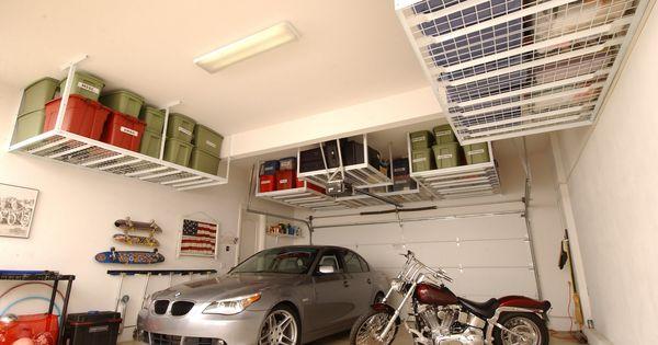 Overhead Garage Storage Systems Tidy Up Pinterest