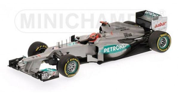 MINICHAMPS F1 MERCEDES AMG PETRONAS W03 MONACO GP 2012 1//18 MICHAEL SCHUMACHER