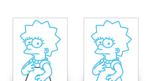 how to draw lisa simpson