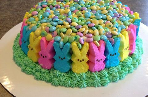 Peeps Cake Easter.... So making this for Easter! easter cake bunny
