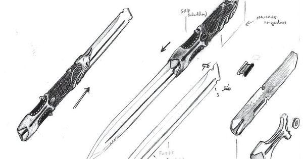 Hidden Blade Alternate Design Shematics By Emergensy On