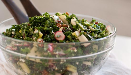 Deb's Kale Salad with Apple, Cranberries and P kale recipes cooking| http://cooking-tips-eldred.blogspot.com