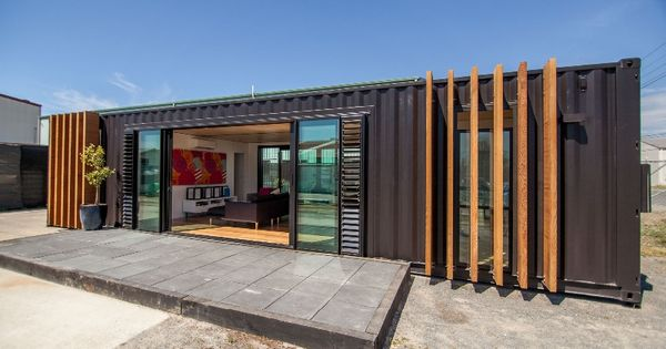shipping container house converted from two 40 39 containers worldwide shipping container. Black Bedroom Furniture Sets. Home Design Ideas