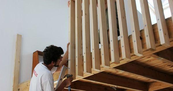 week end garde corps en bois cr ation en bois pinterest escaliers mezzanine et chambres. Black Bedroom Furniture Sets. Home Design Ideas