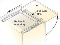 Concealed Door Slides Appliance Garage Diy Cabinet Doors Cabinet Organization Diy