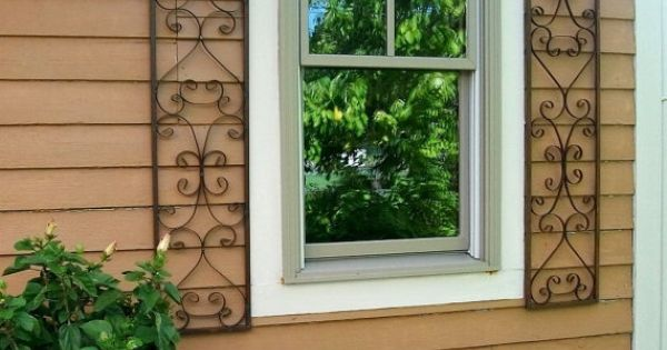 New Orleans Exterior Wrought Iron Window Shutters By Arusticgarden Ideas To Do