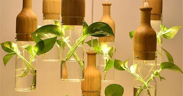 Encontrar Mas Ropa Interior Informacion Acerca De Moderna Planta Llevada Luces Colgantes De Iluminacion Colgante Pequenas Casas De Madera Jardineras Colgantes