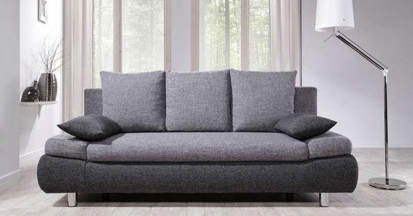 canap convertible 3 places noah coloris gris anthracite. Black Bedroom Furniture Sets. Home Design Ideas