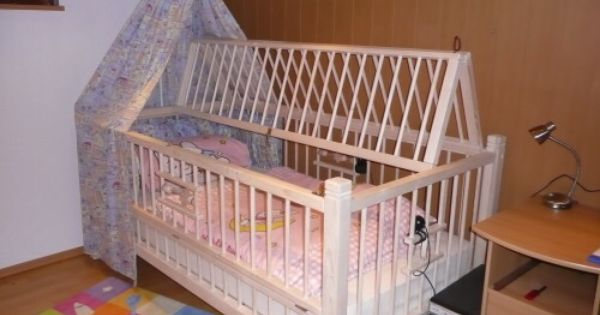 This is a great idea of locking an adult baby into a crib for Cradle bed for adults