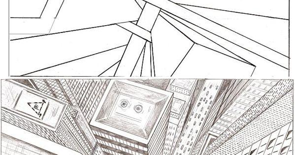 tutorial city perspective beeldende vorming pinterest perspektive zeichnen und zeichnungen. Black Bedroom Furniture Sets. Home Design Ideas