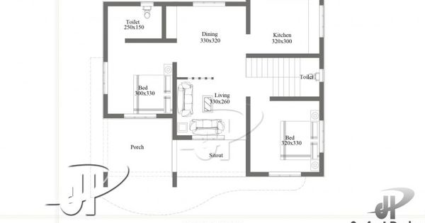 Beautiful House Plan Designed To Be Built In 75 Square Meters Myhomemyzone Com Home Design Floor Plans House Floor Plans House Roof Design