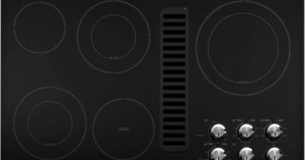 Kitchenaid 36 In Downdraft Vent Ceramic Glass Electric Cooktop In Black With 5 Elements Including Double Ring Elements Kecd867xbl Electric Cooktop Cooktop Kitchen Aid