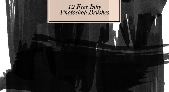 12 Free Inky Photoshop Brushes - Creature Comforts - daily inspiration, style,