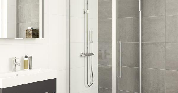 Bruynzeel zeta douchecabine badkamer idee salle de bains cabines de douche porte - Integrale badkamer ...