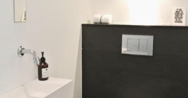 Zwart wit toilet badkamer pinterest zwart wit en zwart - Deco toilet zwart ...