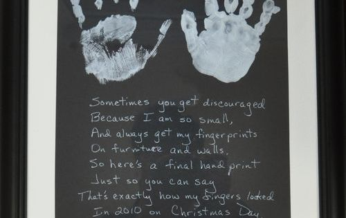 Kids hand prints - cute gift idea