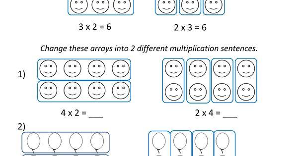 Beginning Multiplication Worksheets Math Pinterest 1