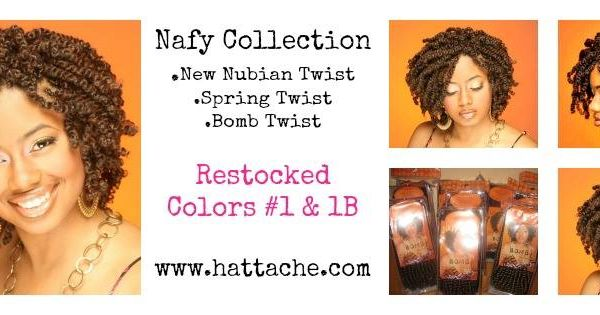 B Styled Hair Collection: Nafy Collection New Nubian Spring/Bomb Twist Hair Http