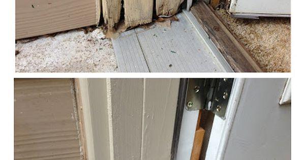 Door Jam Insulation Strips : Exterior door threshold repaired jam trim