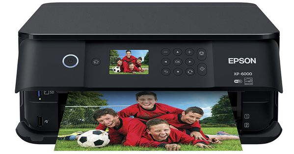 Epson Expression Premium Xp 6000 Small In One Printer Multifunction Printer Printer Scanner Photo Printer