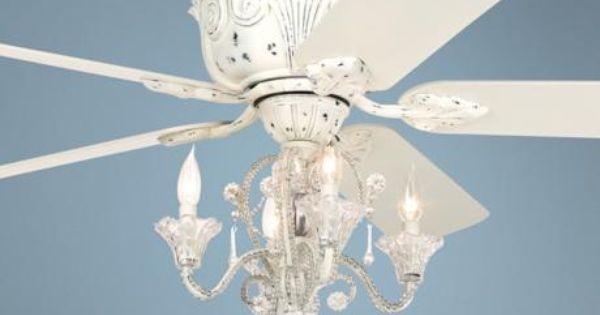Pretty White Ceiling Fans: Casa Deville™ Candelabra Ceiling Fan
