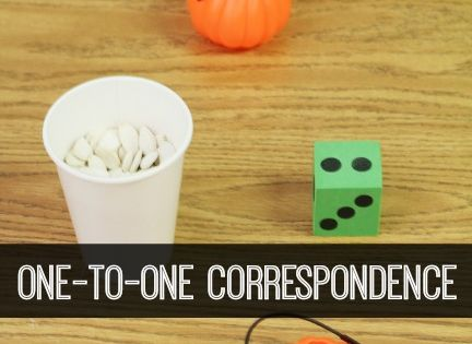 One to One Correspondence Pumpkin Seed Counting Activity for Preschool and Kindergarten.