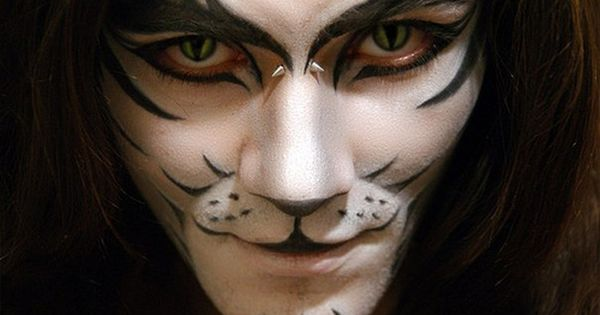 Halloween Makeup Men White Tiger Face Paint Tiger Makeup Halloween Makeup Diy Cool Halloween Makeup
