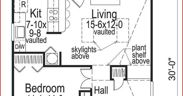 Cottage floor plan for 576 sq ft floor plan