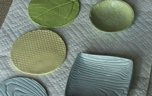 Clay Craft - textured air dry clay - coasters and trays