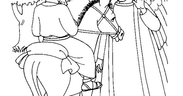 bible talking donkey coloring pages - photo#15