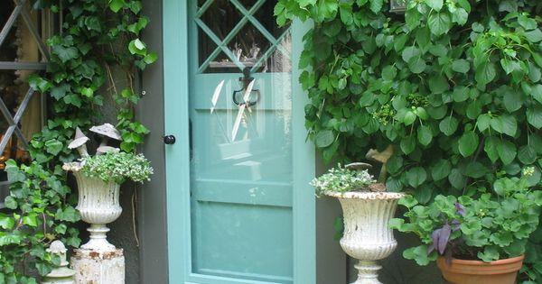 Turquoise door & storm door!