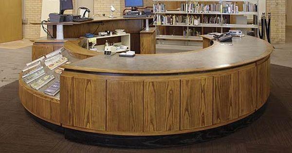 Technolink Modular Service Desk Demco Library Interiors Public Library Design Library Furniture Library Design