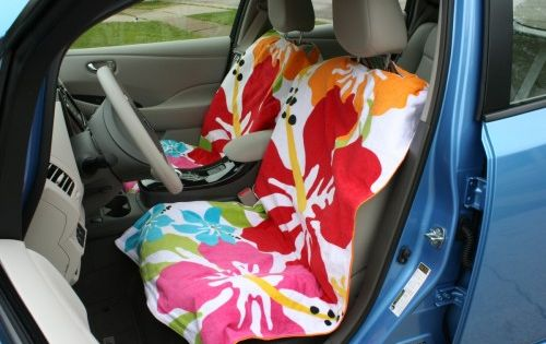 Sew Together Two Towels To Create A Beach Towel Cover For