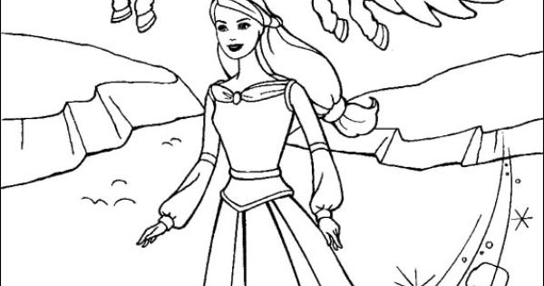 Barbie And The Magic Of Pegasus Coloring Page Barbie