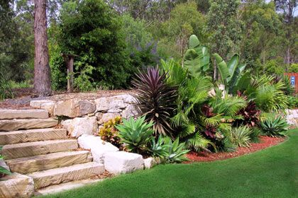 Gold Coast Rock Walls Retaining Walls The Rock Wall Experts Landscaping With Rocks Rock Retaining Wall Garden Retaining Wall