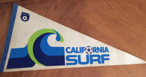 Vintage Nasl California Surf Soccer Pennant 1978 California Surf Surf Logo Surfing