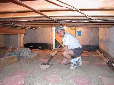 Alek Dig Crawlspace Insulation Removal Home Insulation