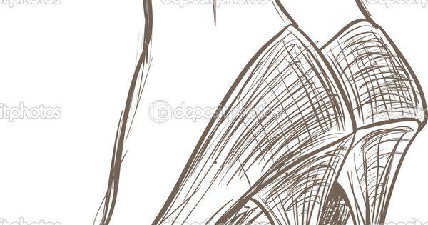 Sketches high heels | Shoes sketch — Stock Vector © Gatina Kadriya 13405236