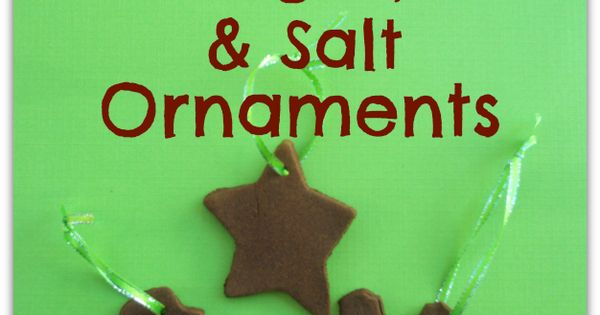 How to make Cinnamon, Sugar, and Salt Ornaments. These are easy to