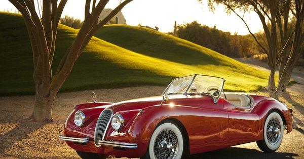 classic Jaguar by along