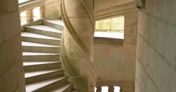 escalier en h lice chambord ch teaux de la loire pinterest escaliers escaliers en. Black Bedroom Furniture Sets. Home Design Ideas