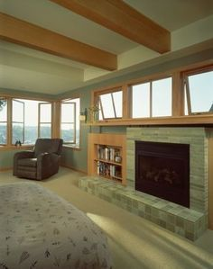 Image Result For Fireplace Under Window Fireplace Design Stone