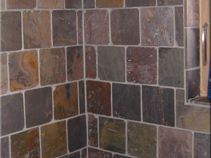 X Slate Tile Brick Pattern With X Accent Home Ideas Kotaksuratco - 6x6 accent tiles