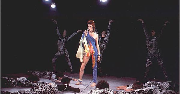 David bowie during the filming of 39 the 1980 floor show 39 at for 1980 floor show david bowie