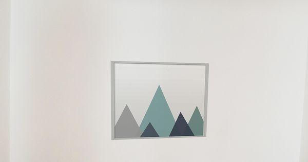 sandrine carr d coratrice chambre affiche g om trique losanges suspension tissu bleu. Black Bedroom Furniture Sets. Home Design Ideas