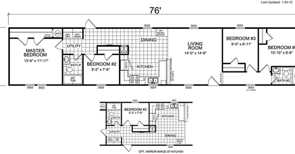 Earthship Home Floor Plans: Mobile Home Floor Plans 4 Bedroom